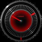 NEON RED Laser Clock Widget icon