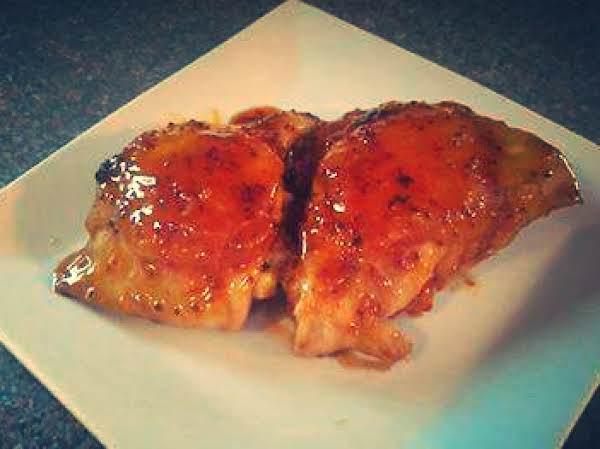 Spicy Honey Mustard Glazed Chicken Thighs