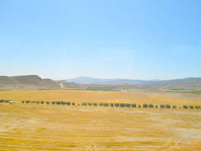 Photo: The Spanish countryside was filled with rolling hills.