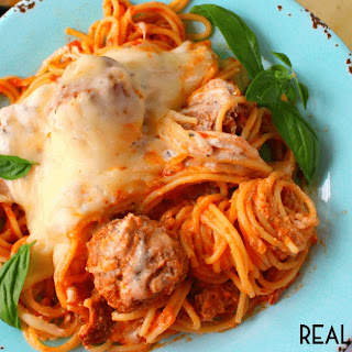 Slow Cooker Cheesy Spaghetti and Meatballs Recipe