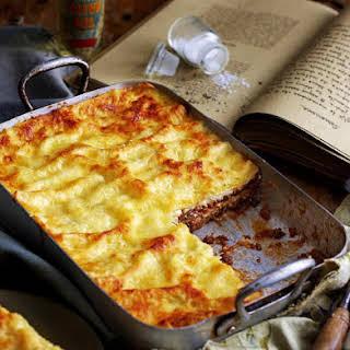 Beef and Mushroom Lasagna.