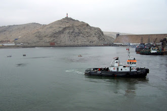 Photo: tugs as we get ready to leave port