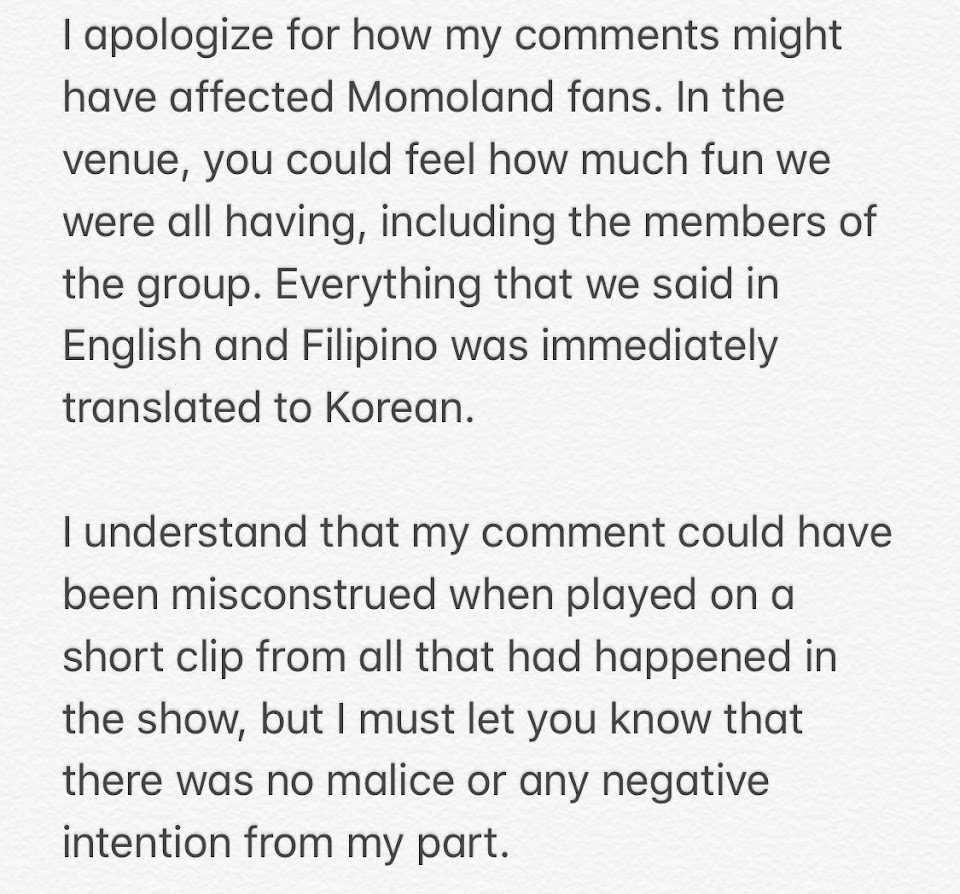 momoland tim yap apology 1