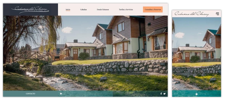 Sitio web Cabañas del Chacay