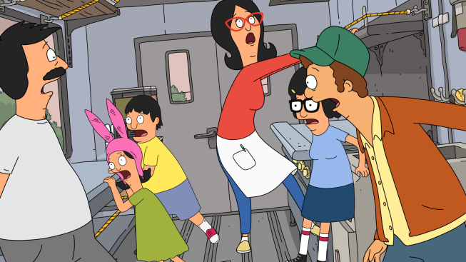 """Photo: BOB'S BURGERS: When the Belchers bring their food truck to the """"Lolla-Pa-Foods-A-Festival,"""" the kids stir up some trouble in the all-new """"Food Truckin'"""" episode of BOB'S BURGERS airing Sunday, April 15 (8:30-9:00 PM ET/PT) on FOX.  BOB'S BURGERS ™ and © 2012 TCFFC ALL RIGHTS RESERVED."""