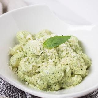 Creamy Pesto Gnocchi.