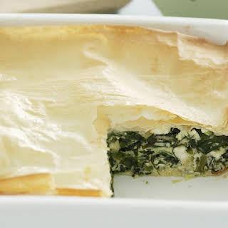 Spinach and Cheese Pie (Spanokopita).