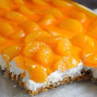 Mandarin Orange Pretzel Dessert.