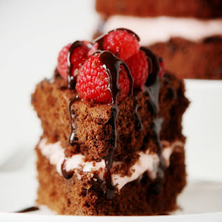 Skinny Chocolate Raspberry Cake