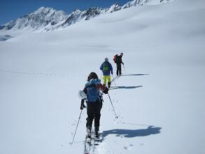 Photo: Day 2 walking up the slopes.