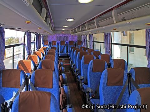 九州産交バス「きりしま号」 1279 車内