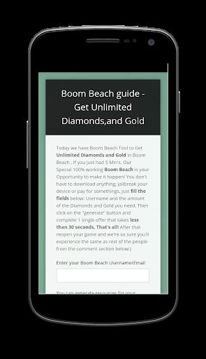 Ressources for boom beach