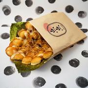Seaweed and Fried Tuna Waffle