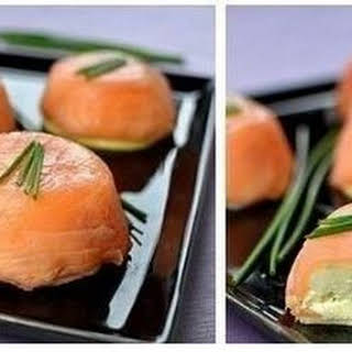 Appetizer Of Salmon And Cheese.