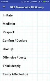 Gre Mnemonics Dictionary - náhled