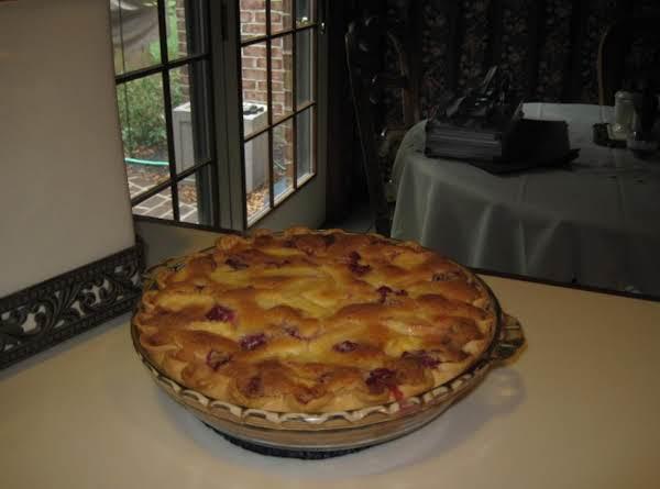 Peach Custard Pie By Rose Recipe