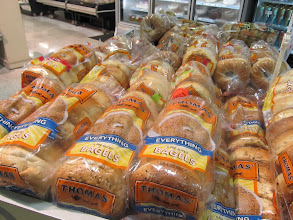 Photo: All flavors of the 6 pack bagels are on sale.  WOOT!  I can save up to $4.50.