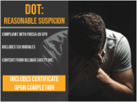 DOT reasonable suspicion