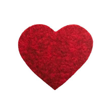 Grytunderlägg hjärta i ull