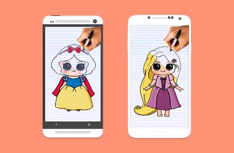 تنزيل كيفية رسم أميرات ديزني خطوة بخطوة 1 01 لنظام Android