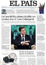 Photo: La Casa del Rey planea detallar sus cuentas y el juicio a Camps por corrupción en la portada de EL PAÍS http://www.elpais.com/static/misc/portada20111212.pdf