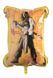 Folieballong, pirates of the caribbean stor