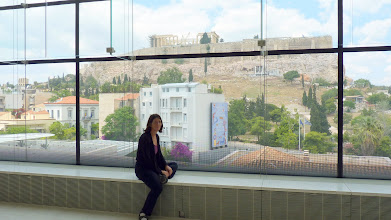 Photo: View of Parthenon from the top floor of the museum