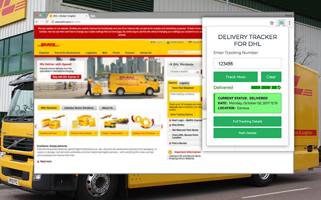 Delivery Tracker for DHL