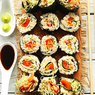 Veggie Brown Rice Sushi Recipe