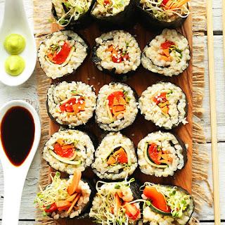 Veggie Brown Rice Sushi.
