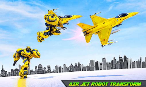 Air Jet Robot Transform : Robot Shooting Game 2