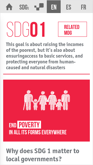 Sustainable Development Goals- screenshot
