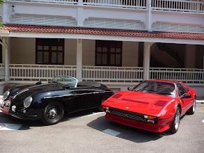 Photo: More recent cars in Hua Hin, Thailand. Porsche and Ferrari.