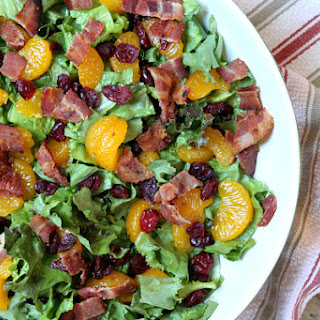 Mandarin Orange Green Salad with Poppy Seed Dressing