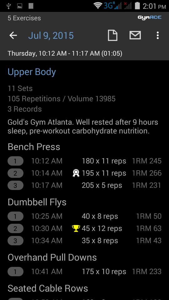 GymACE Pro: Workout Tracker & Body Log Screenshot 5