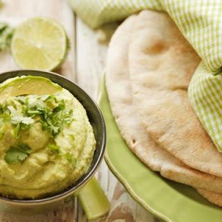 Avocado Cilantro Hummus.