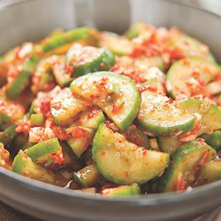 Quick Cucumber Kimchi.