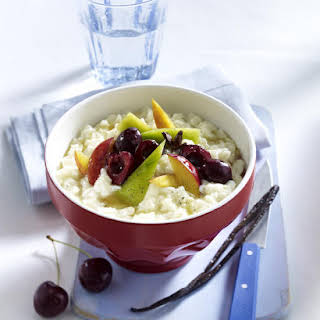 Quick Rice Pudding With Spiced Fruit.
