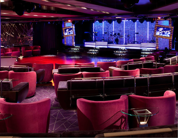Catch high-quality entertainment on stage at the Grand Salon on Seabourn Odyssey.