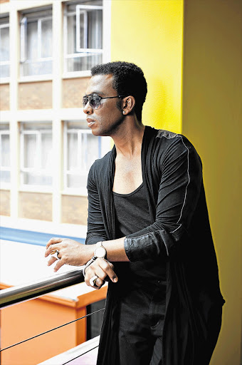 INTENSE: Tlale at the Hotel Lamunu in Braamfontein, close to his studio Pictures: WESLEY POON