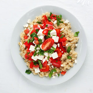 Red Pepper and Tomato Quinoa Salad with Feta.