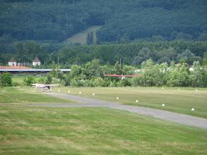 Photo: Le Skyranger se pose devant le nynja au point d'arrêt de la 15
