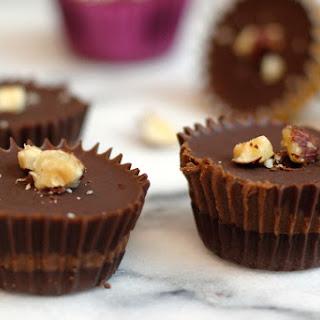 Simple Hazelnut Chocolate Cups.