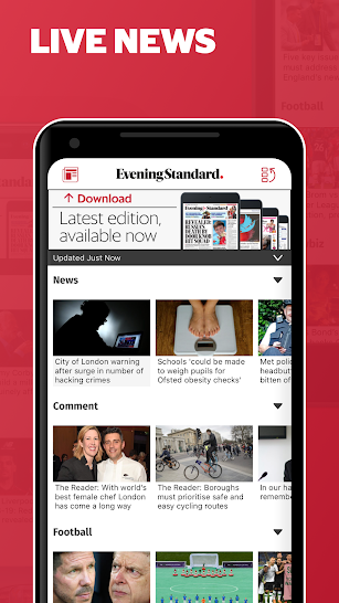 Evening Standard screenshot for Android