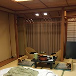 elegant beds and tatami mats in the $500 Ryokan at Senkei in Yumoto, Hakone in Hakone, Kanagawa, Japan