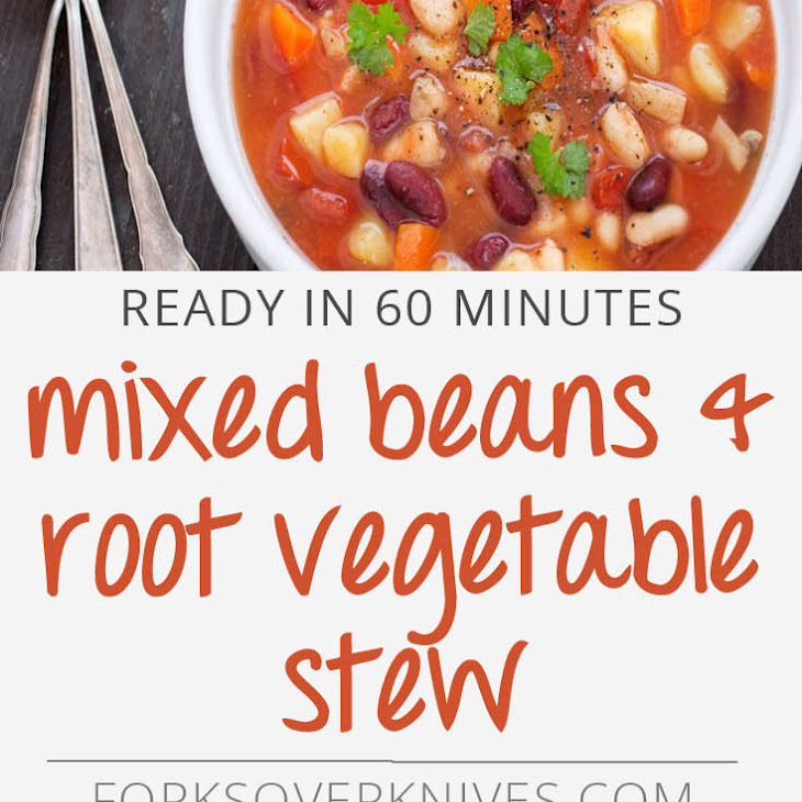 Mixed Beans and Root Vegetable Stew Recipe