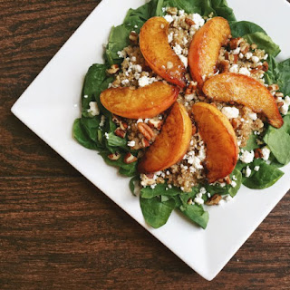 Caramelized Peach & Goat Cheese Salad