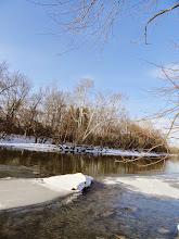 Photo: Snowy river at Wegerzyn Gardens in Dayton, Ohio.