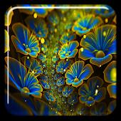 Glowing Flowers Wallpaper