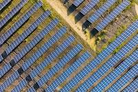 Solar panels line up side-by-side at our St. Ghislain, Belgium data center.